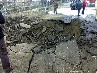 В Дагестане у банкетного зала взорвалась бомба мощностью 8 кг тротила