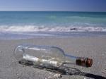 Бутылка с посланием плавала по морю больше века
