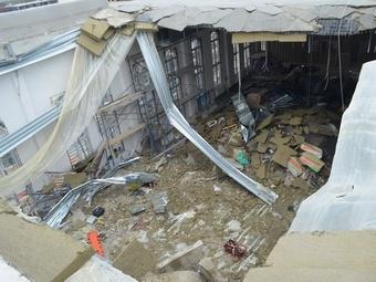 В Севастополе закончили разбирать завалы рухнувшего кадетского корпуса