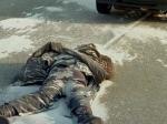 Сотрудник полиции из Подмосковья переехал пьяного человека, который лежал на дороге