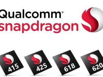 Qualcomm представила новые чипсеты Snapdragon 415, 425, 618, 620