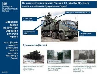 Посольство Великобритании публикует новые доказательства агрессии РФ— российский ЗРК «Панцирь С-1» наДонбассе