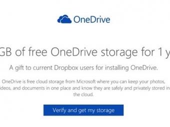 Пользователи Dropbox могут получить 100Гб вOneDrive