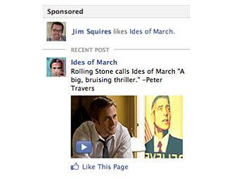 """Facebook сделает """"растяжимую"""" рекламу"""