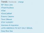 Смерть Джобса стала главным трендом в Twitter