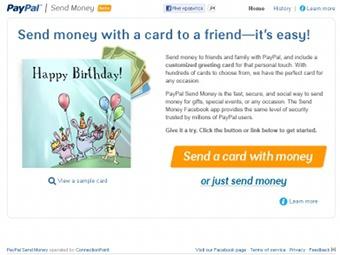 PayPal позволил пользователям Facebook дарить деньги