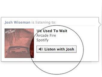 Facebook предложил слушать музыку вместе с друзьями