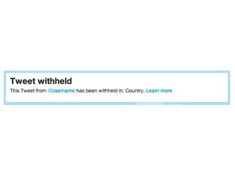 Twitter научился избирательной блокировке контента