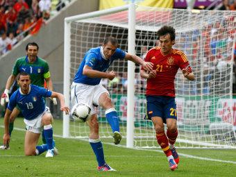 Испания и Италия сыграли вничью на Евро-2012