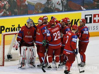 Победа сборной России в матче Чемпионата мира по хоккею