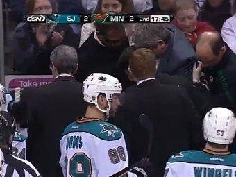 Тренер клуба НХЛ получил удар клюшкой по голове